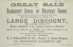 Advert For E. J. Callard & Co, Drapers